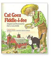 The Cat Goes Fiddle-i-fee title page by Paul Galdone