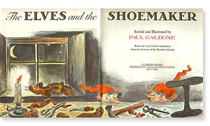 The Elves and the Shoemaker title page by Paul Galdone