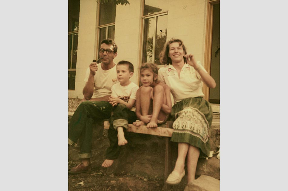 Paul, son Paul Ferenca, daughter Joanna and wife Jannelise, 1954