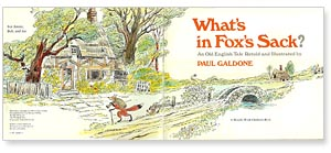 What's in Fox's Sack? title page by Paul Galdone