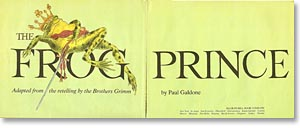 The Frog Prince title page by Paul Galdone