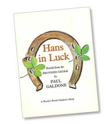 Hans in Luck title page by Paul Galdone