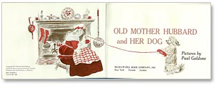 Old Mother Hubbard and Her Dog tilte page by Paul Galdone