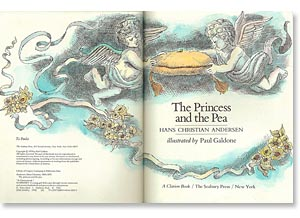 The Princess and the Pea title page by Paul Galdone