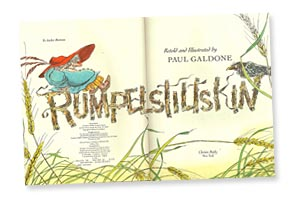 Rumpelstiltskin title page by Paul Galdone