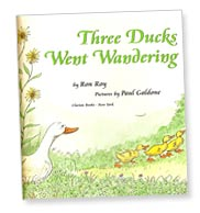 Three Ducks Went Wandering title page by Ron Roy