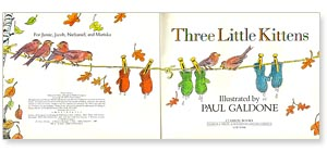 Three Little Kittens title page by Paul Galdone
