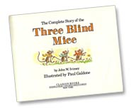 Three Blind Mice title page by Paul Galdone