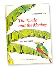 The Turtle and the Monkey title page by Paul Galdone
