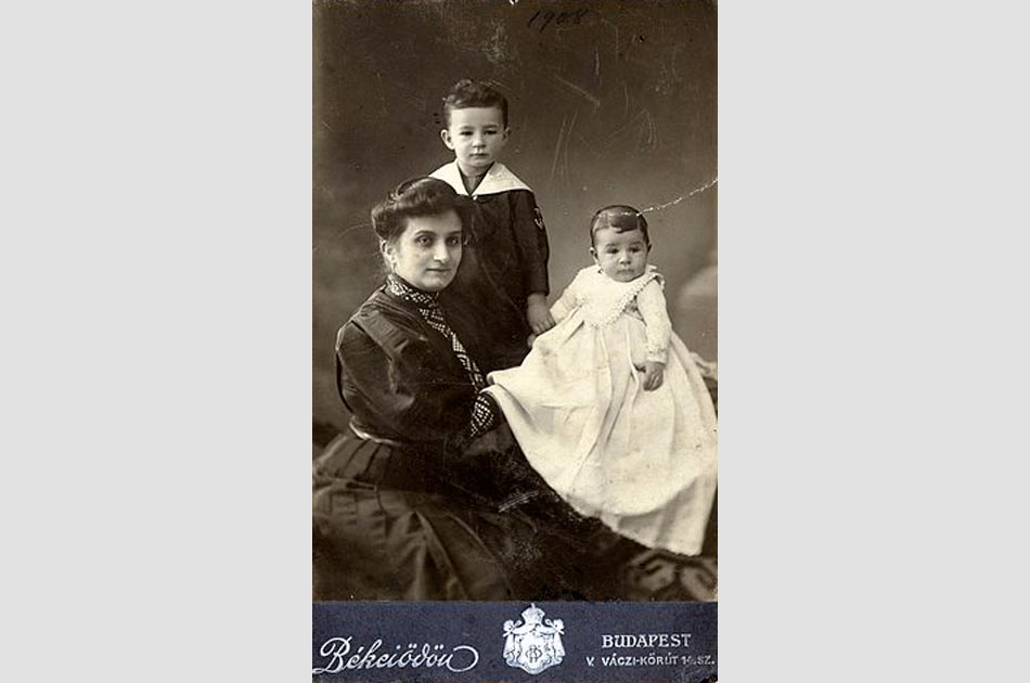 Paul at one-year-old with his mother Ernestine and brother Charles
