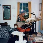 In his Vermont studio, 1983